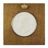 FS74Biscuit porcelain relief Nicholas II